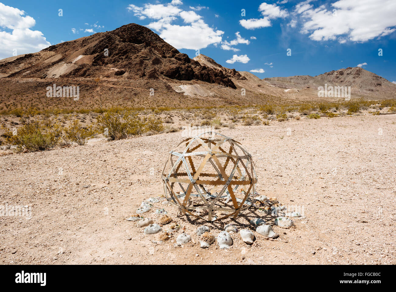 A sculpture in Goldwell Open Air Museum in Rhyolite, Nevada - Stock Image
