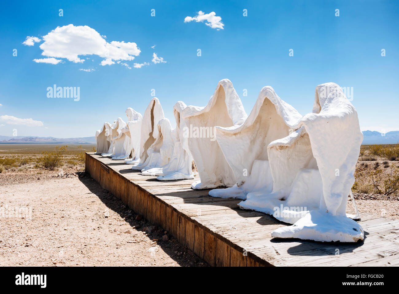 A sculpture by the Belgian artist Albert Szukalski called 'The Last Supper' in Goldwell Open Air Museum, - Stock Image