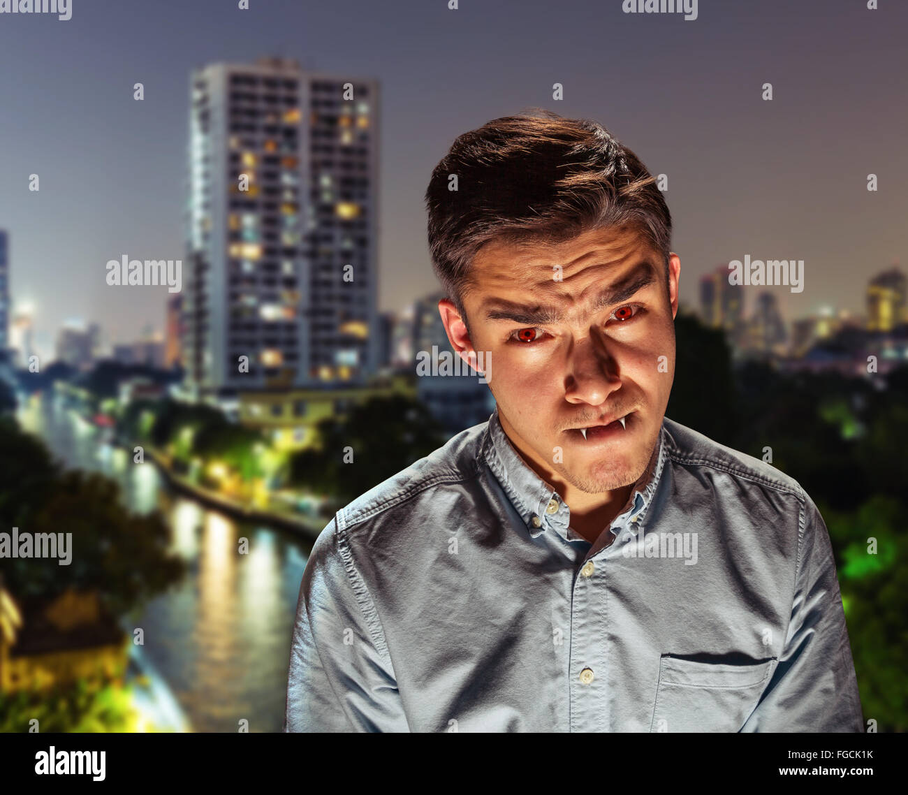 Vampire in the town - Stock Image