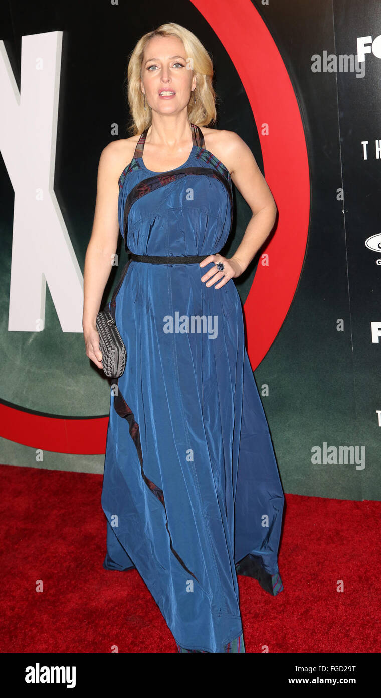 Celebrities attend THE X-FILES Premiere Event at California Science Center.  Featuring: Gillian Anderson Where: Stock Photo