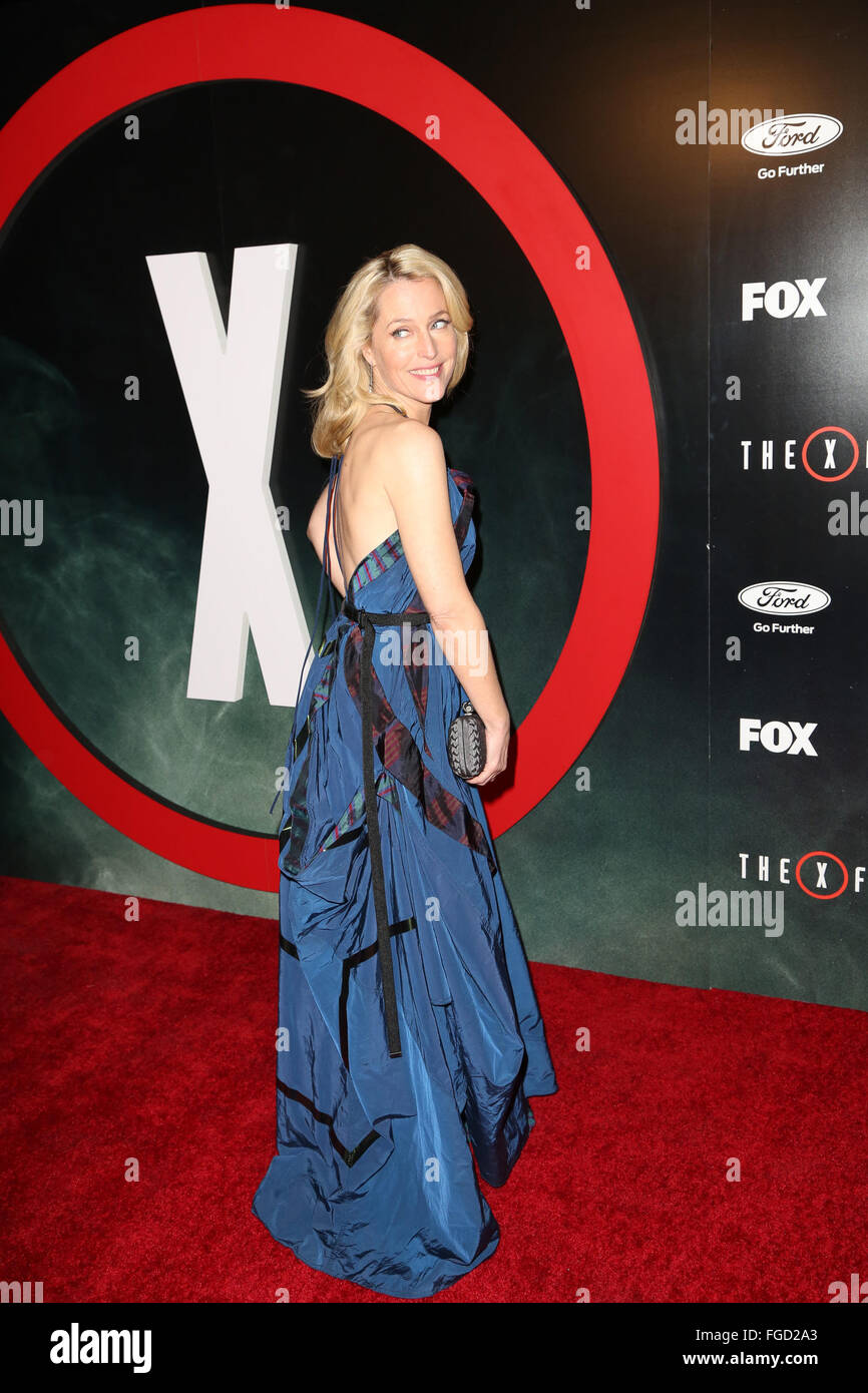 Celebrities attend THE X-FILES Premiere Event at California Science Center.  Featuring: Gillian Anderson Where: - Stock Image