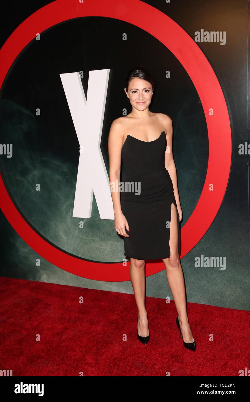 Celebrities attend THE X-FILES Premiere Event at California Science Center.  Featuring: Italia Ricci Where: Los - Stock Image