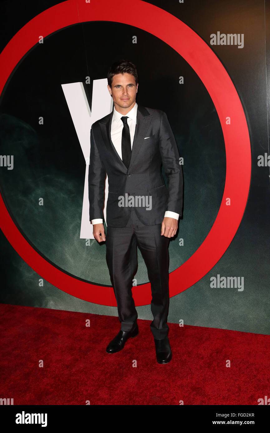 Celebrities attend THE X-FILES Premiere Event at California Science Center.  Featuring: Robbie Amell Where: Los Stock Photo