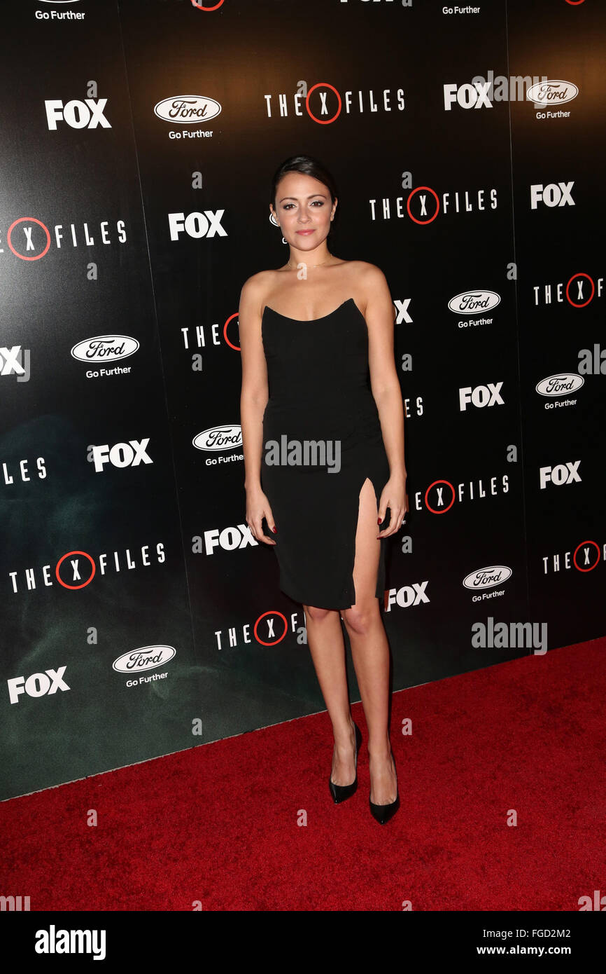 Celebrities attend THE X-FILES Premiere Event at California Science Center.  Featuring: Italia Ricci Where: Los - Stock Image