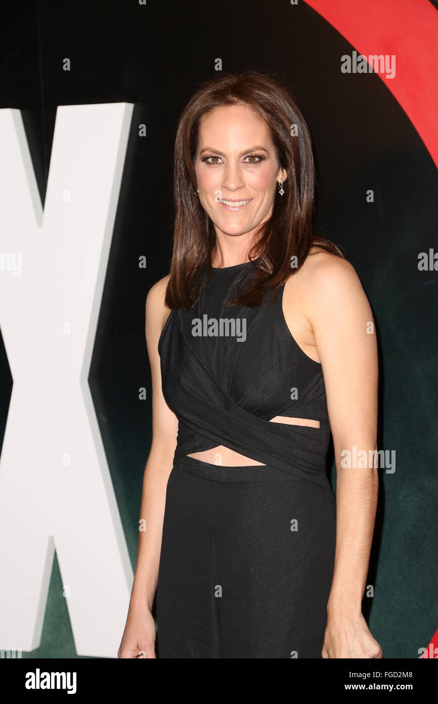 Celebrities attend THE X-FILES Premiere Event at California Science Center.  Featuring: Annabeth Gish Where: Los - Stock Image