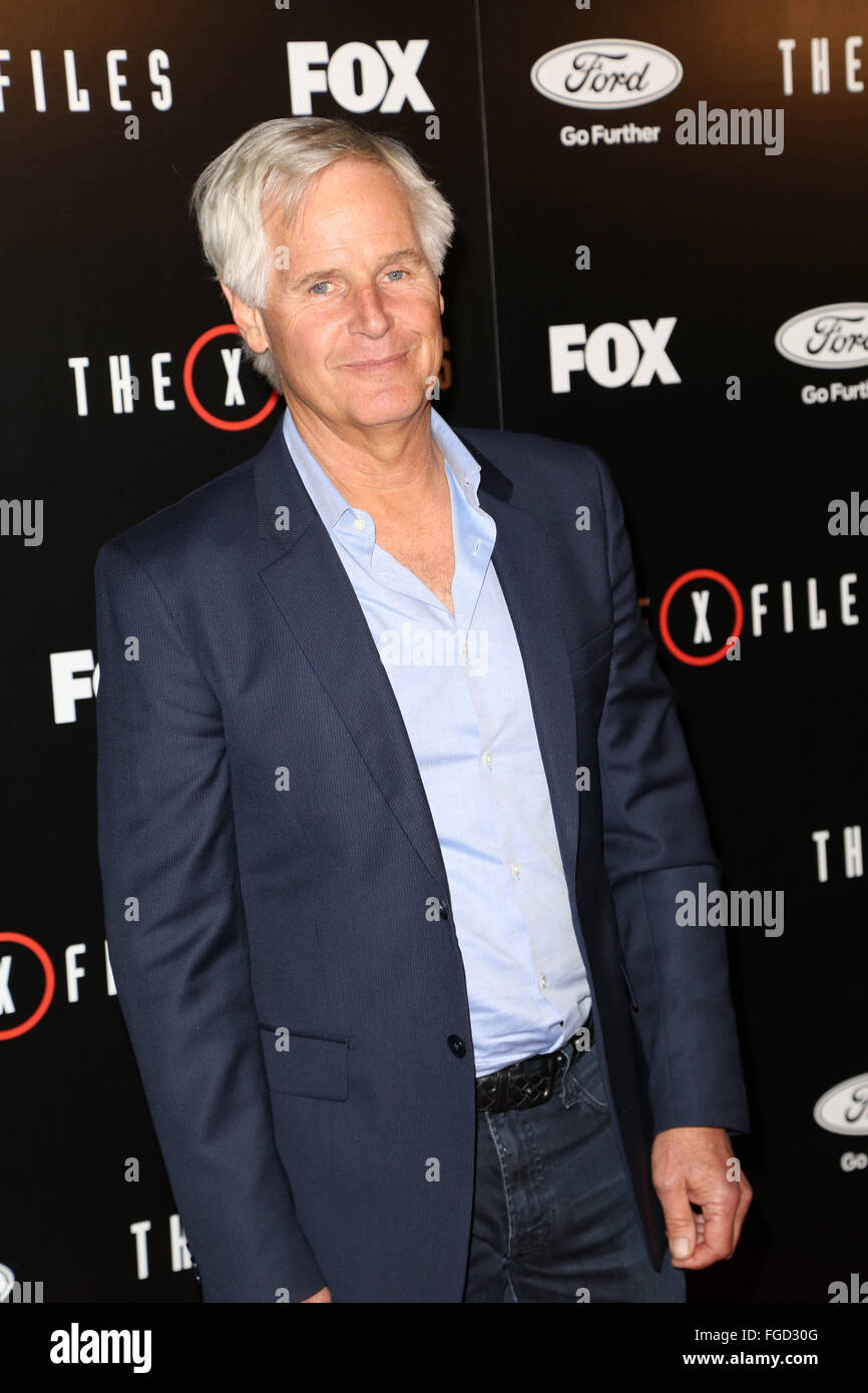 Premiere of Fox's 'The X-Files' at California Science Center - Red Carpet Arrivals  Featuring: Chris - Stock Image