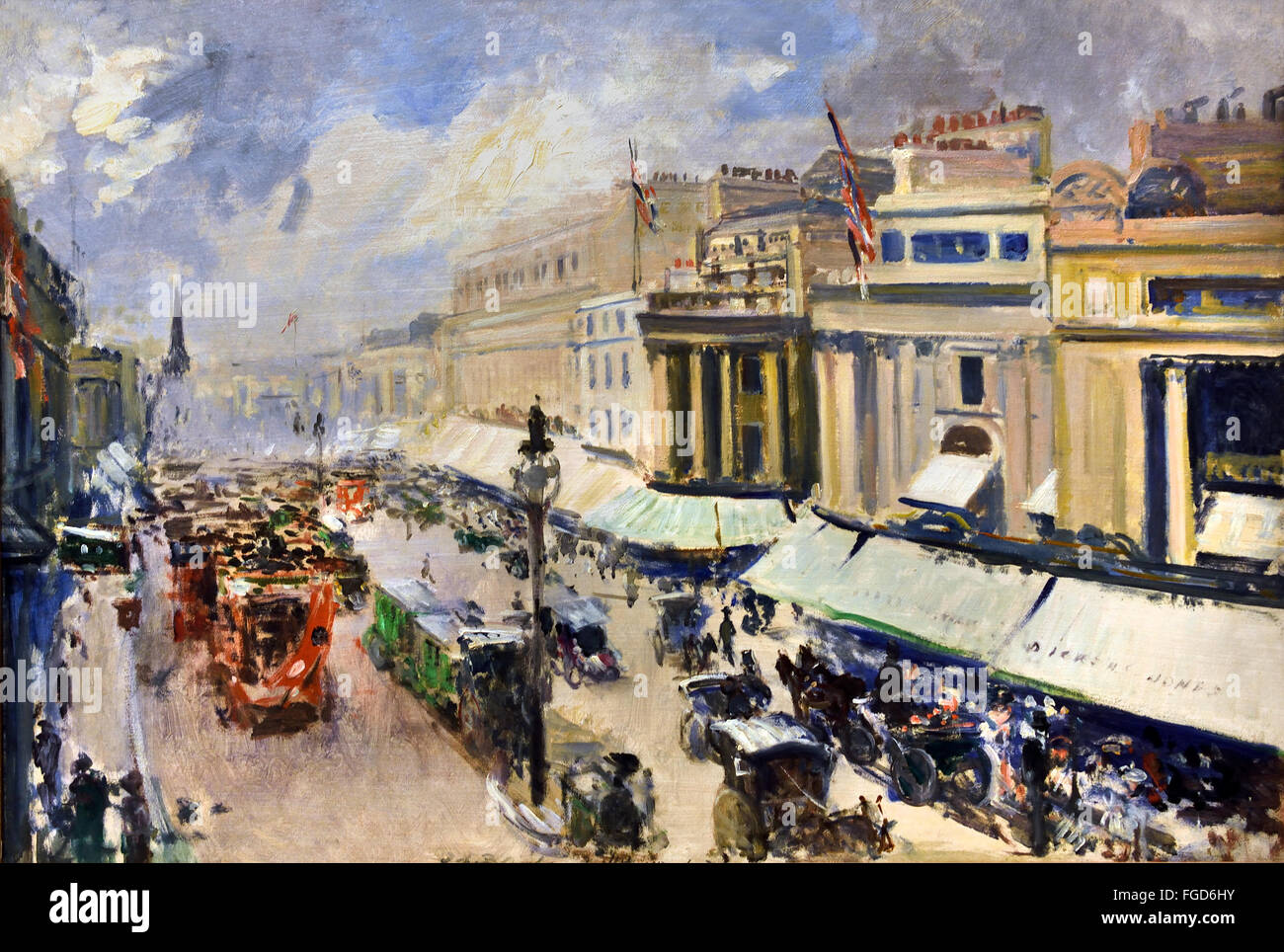 London Regent Street 1912 Jacques Emile Blanche 1861-1942   France French - Stock Image