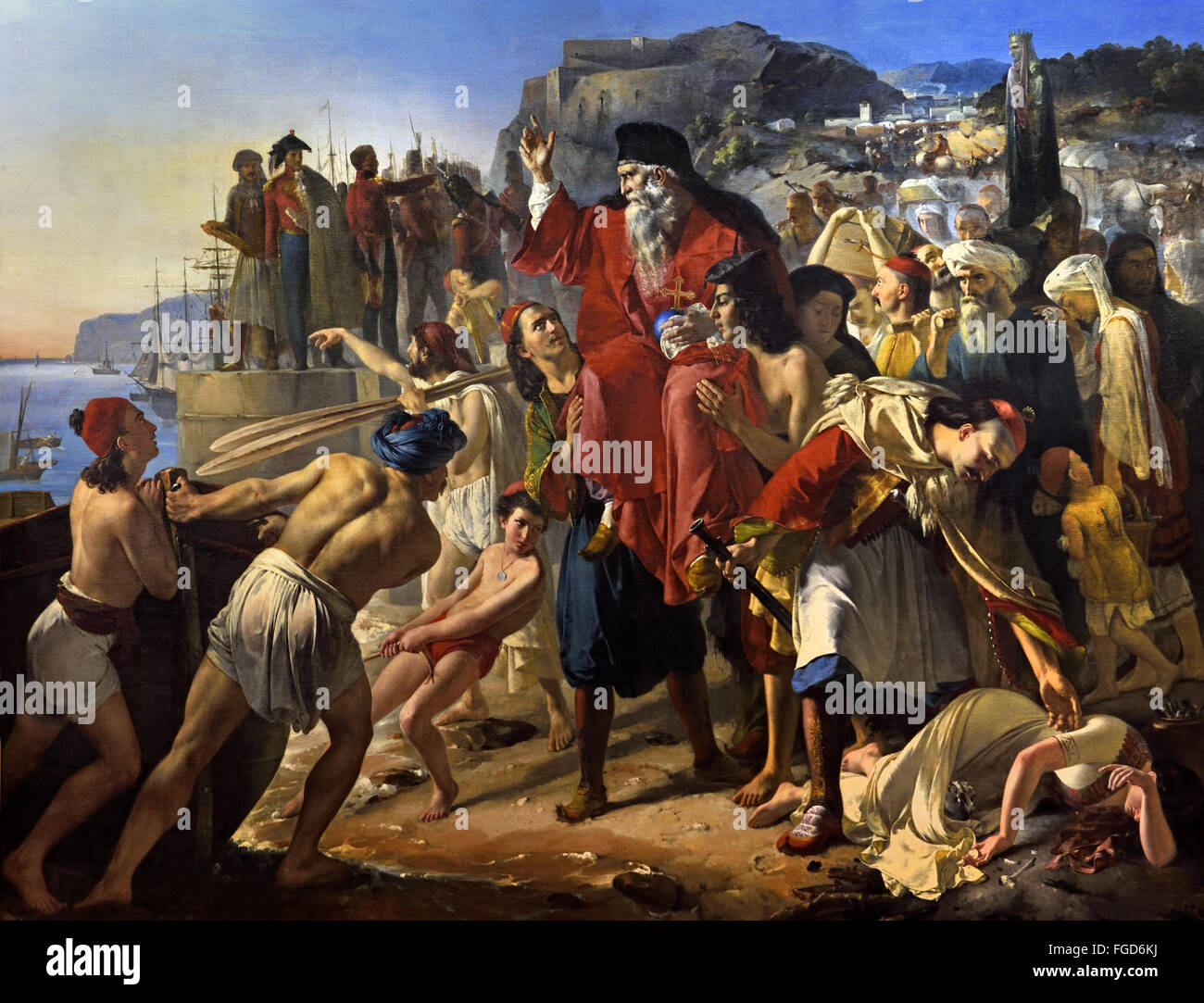 The boarding Pargans (1827) episode 1819, and before the Greek War of  Independence (1821-1829) against Turkey Apollodorus Alphonse Callet  (1799-1831) France ...