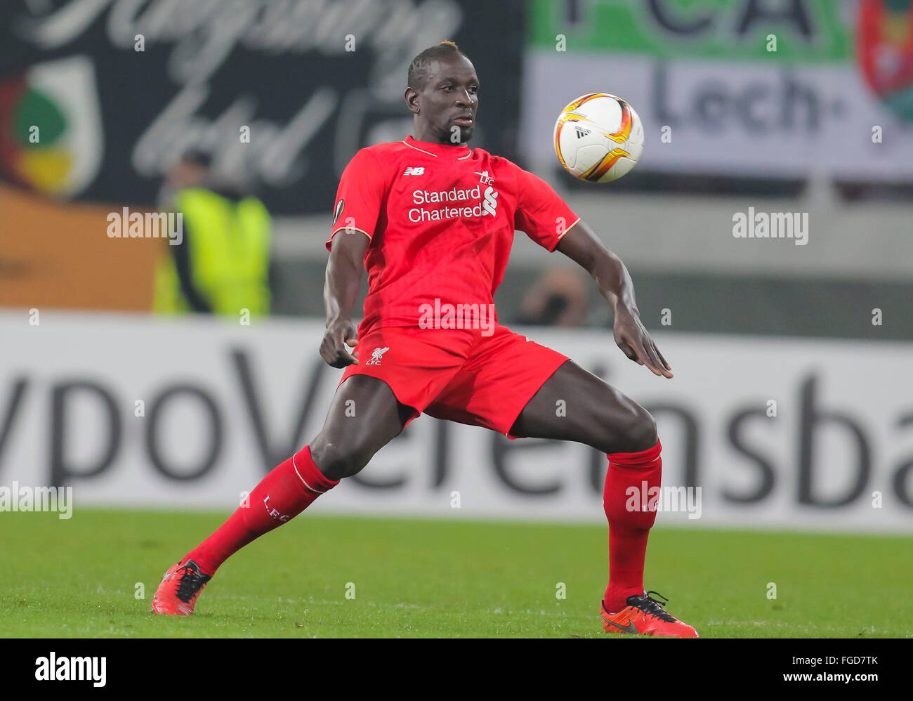 Augsburg, Germany. 18th February, 2016. Mamadou SAKHO, LIV 17 Full figure, action, portrait, single action frame - Stock Image