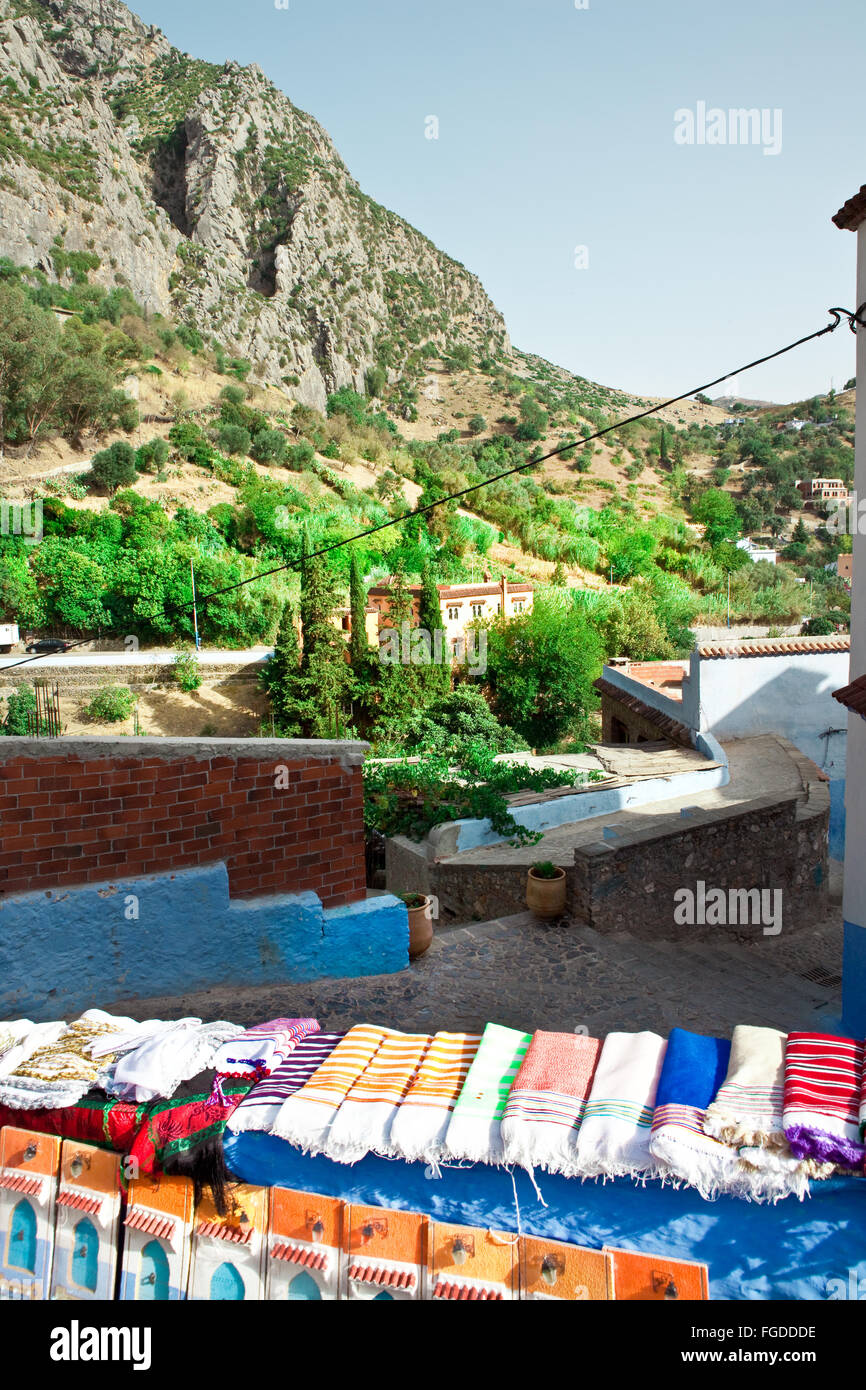 Old medina Chefchaouen Morocco - Stock Image