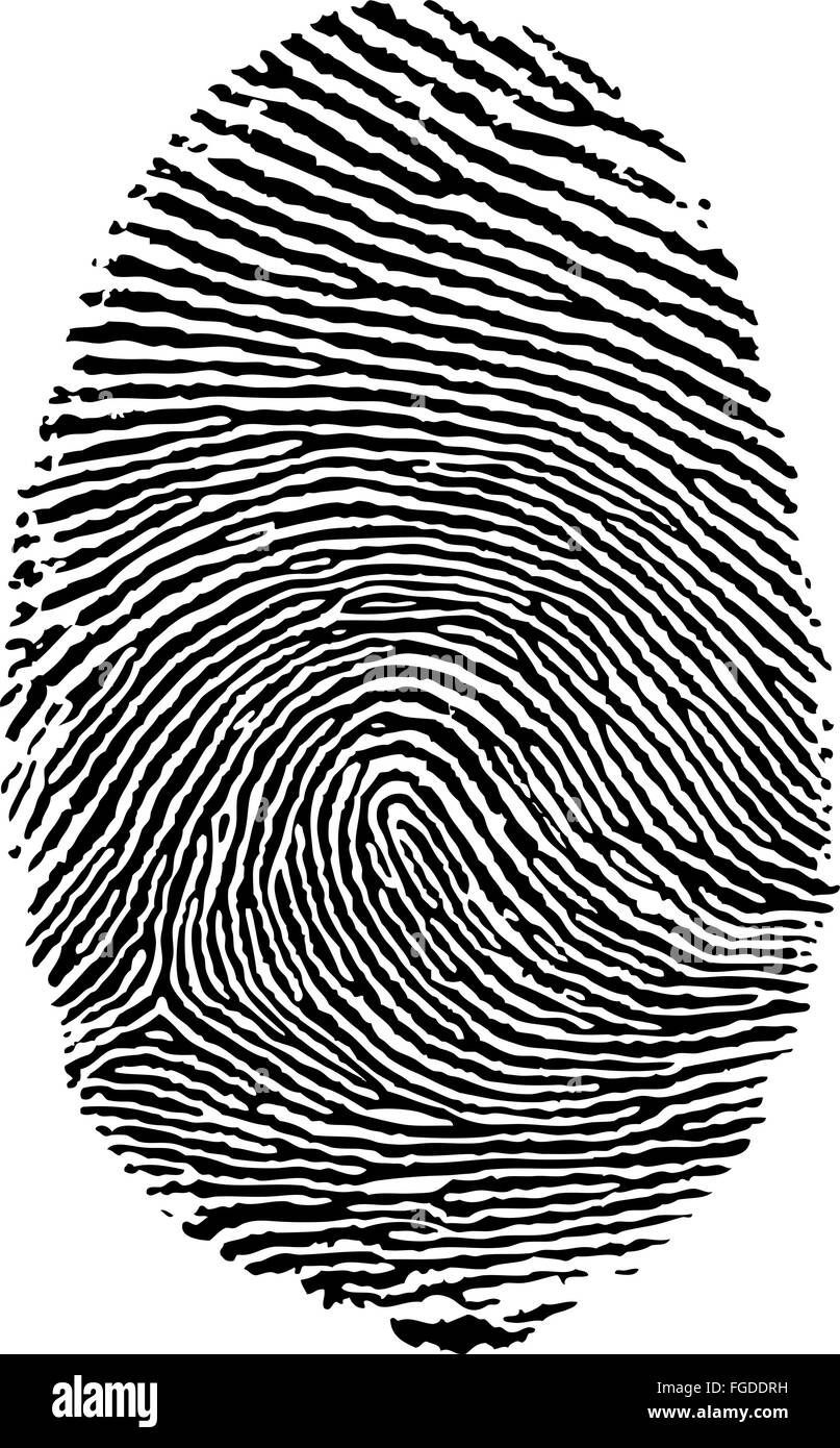 Vector format of finger print. - Stock Image