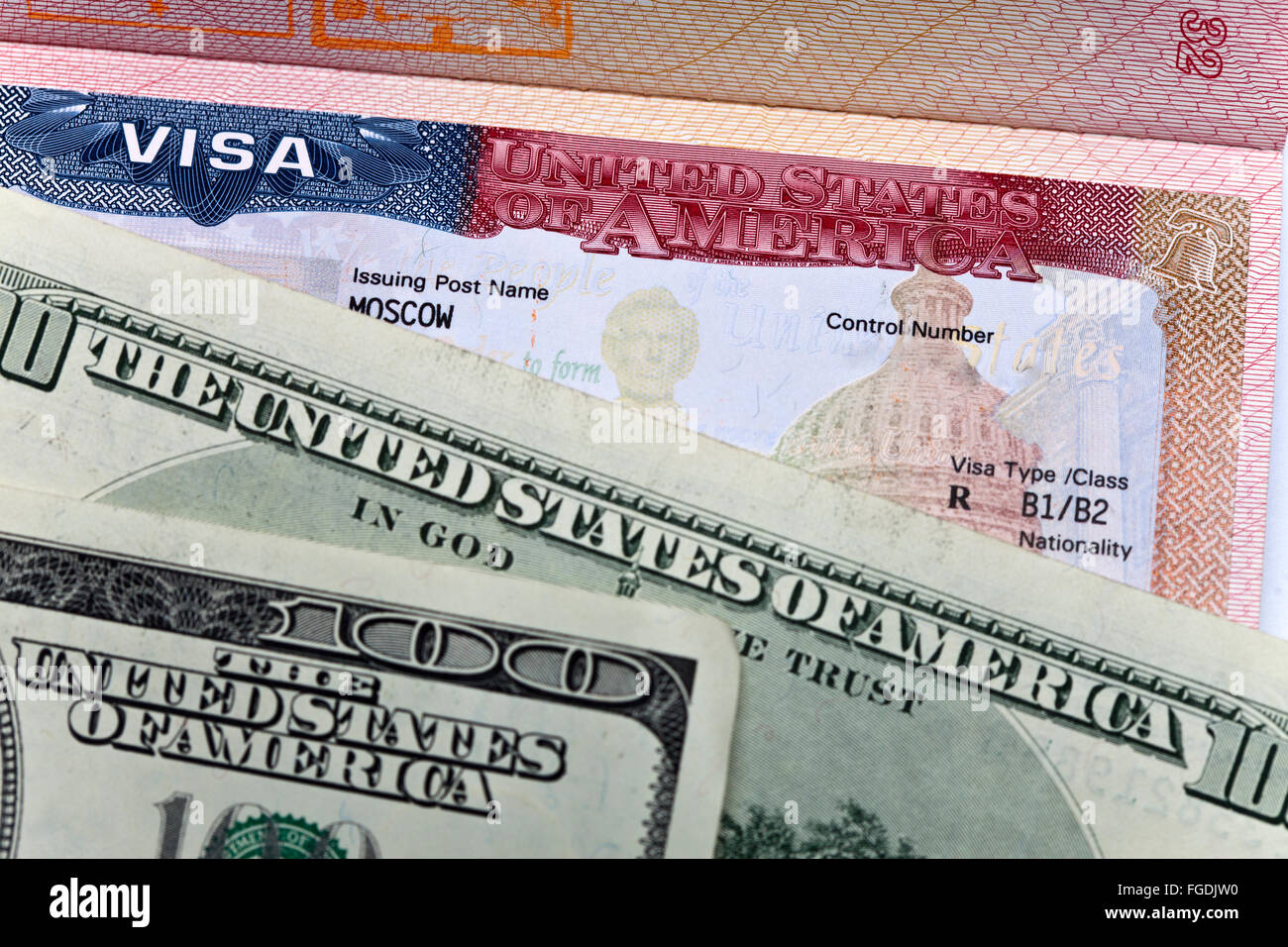 American Visa High Resolution Stock Photography And Images Alamy