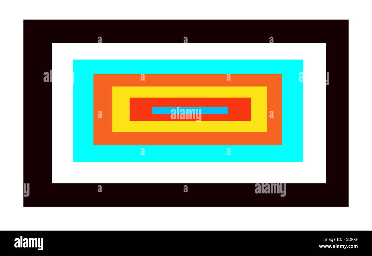 Beauty rectangle with colored and white frames inside Stock Photo ...
