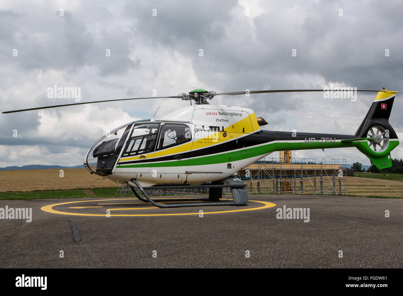 Swiss Helicopter Eurocopter EC 120B Colibri - Stock Image