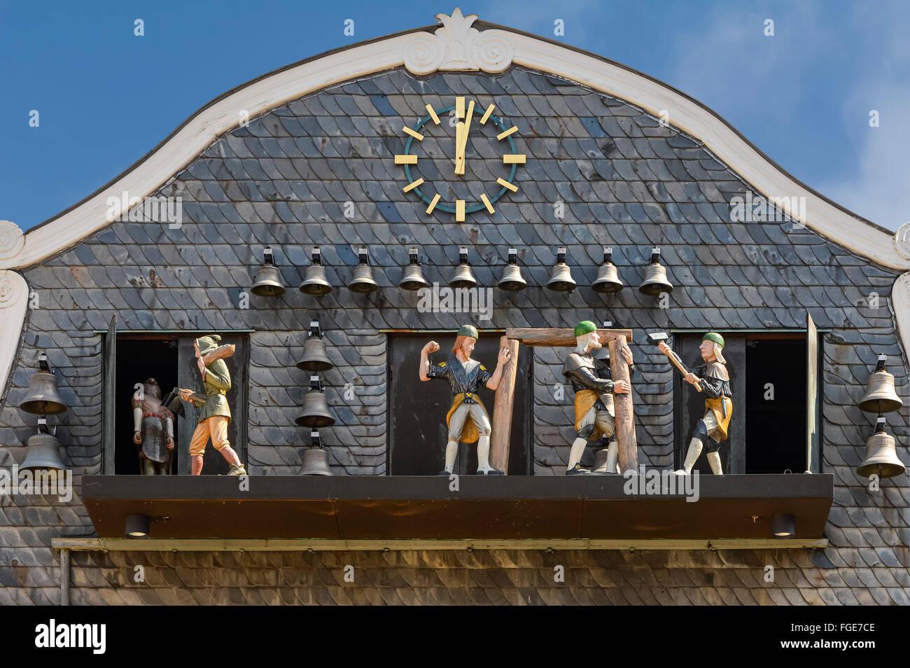 Carillon, Goslar, Harz, Lower Saxony, Germany, Unesco World Heritage Site Stock Photo