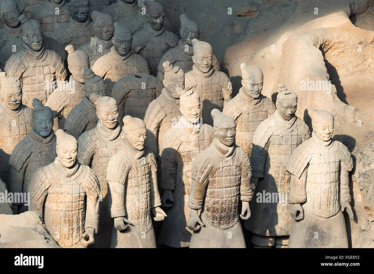 Museum of the Terracotta Warriors, Mausoleum of the first Qin Emperor, Xian, Shaanxi Province, China - Stock Image