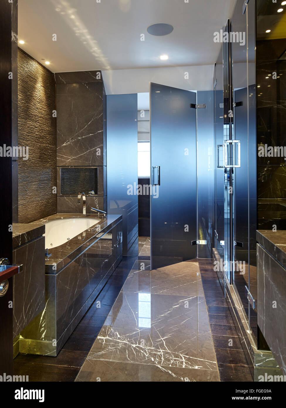 Interior dark marble bathroom with glass door. Tudor Hall Potters Bar United Kingdom & Tudor Style Interior Stock Photos u0026 Tudor Style Interior Stock ...