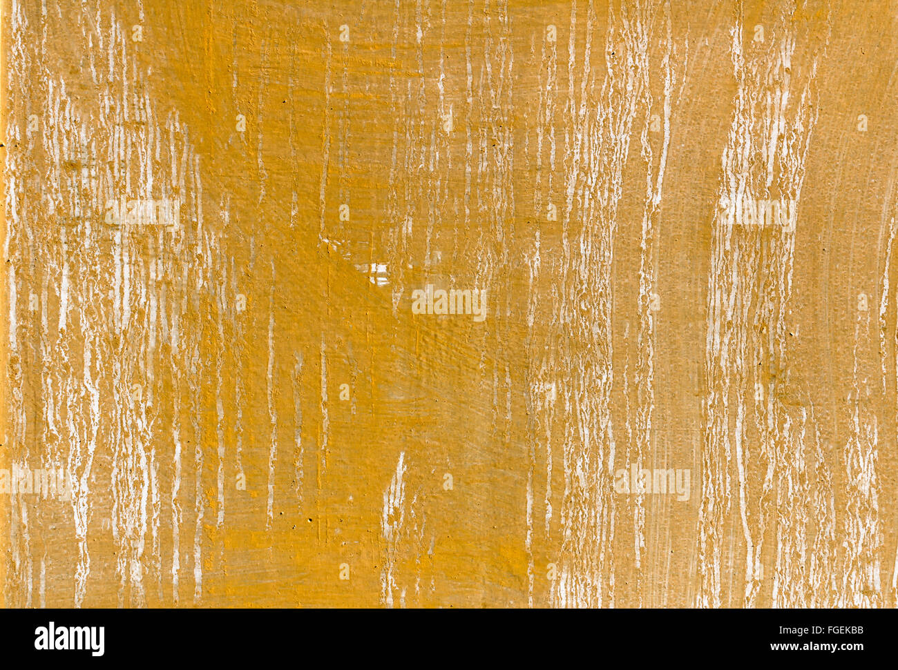 Solid Yellow Background Vintage Worn Distressed Texture Gold Wall Paint Or Smeared Old Paper