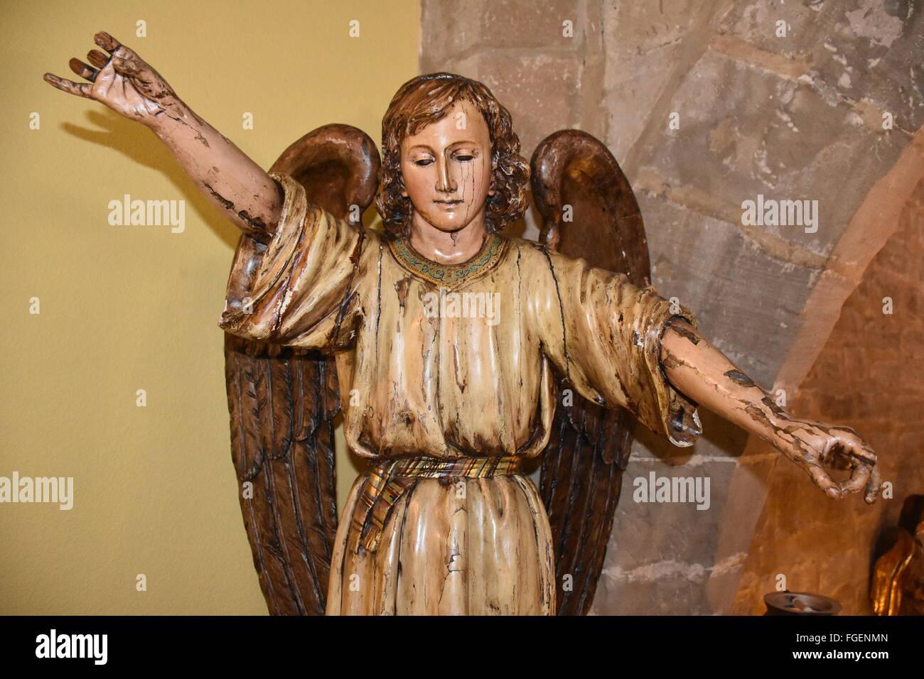 Angel on the stairs of the parador of Santo Domingo de la Calzada - Stock Image