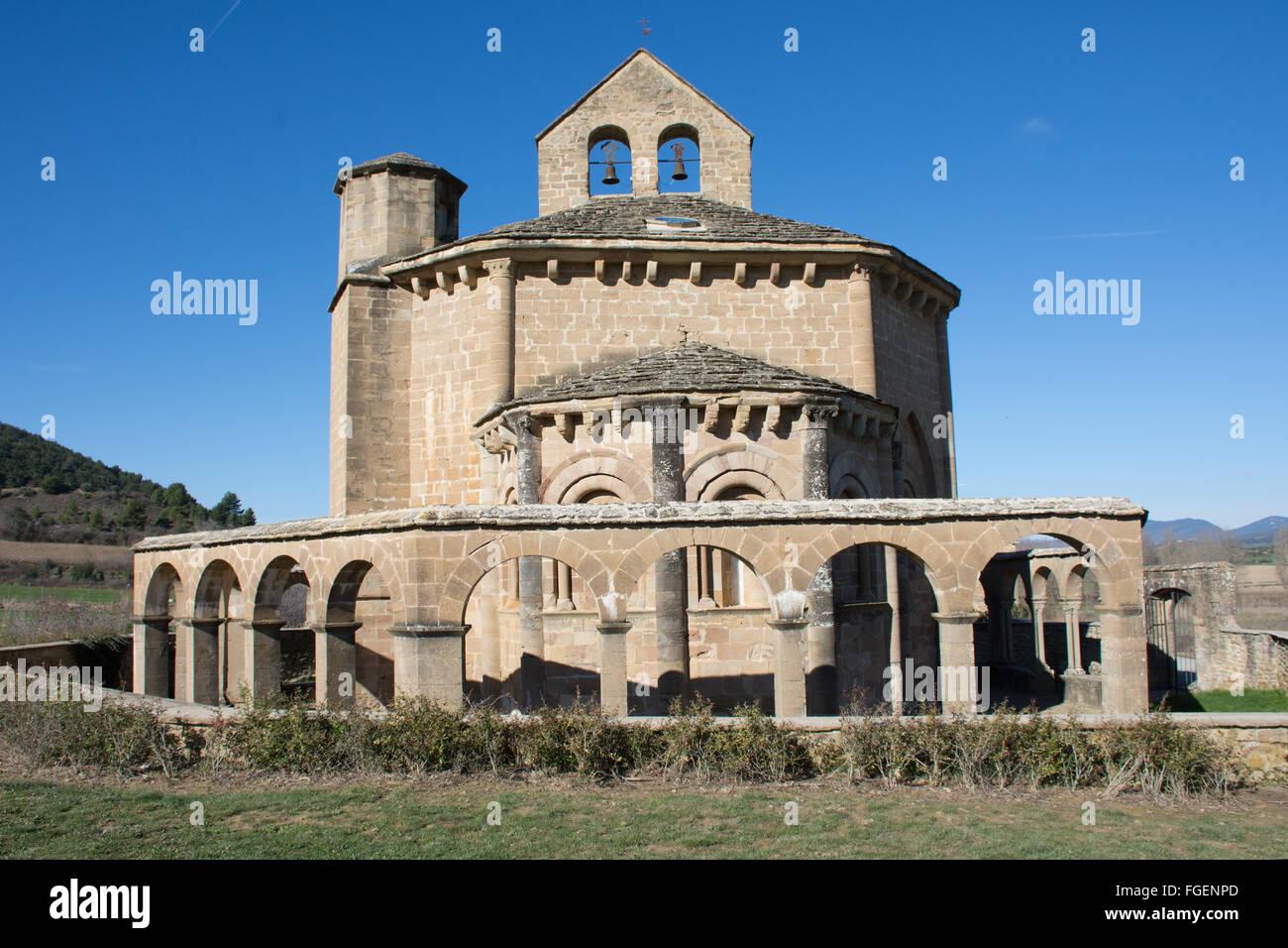 Eunate chapel Spain - Stock Image