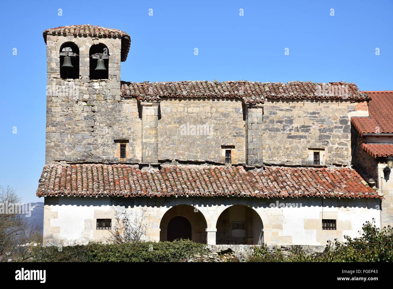 Guelbenzu church Navarra Spain - Stock Image