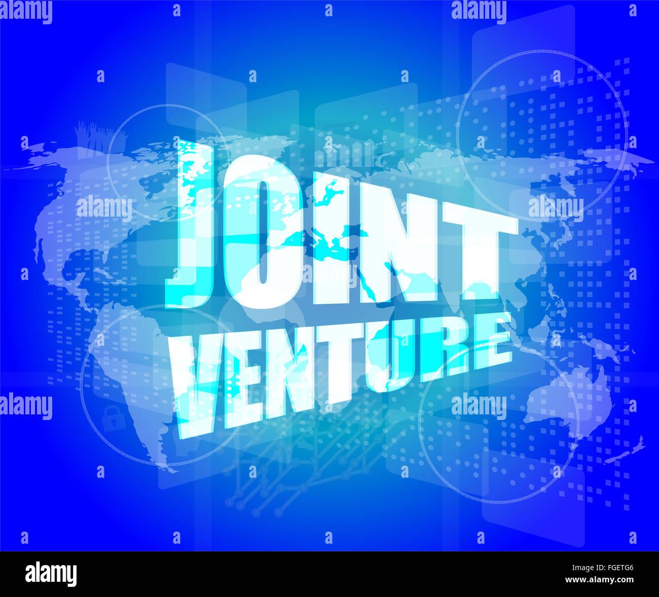 Joint venture words on digital screen background with world map joint venture words on digital screen background with world map gumiabroncs Choice Image