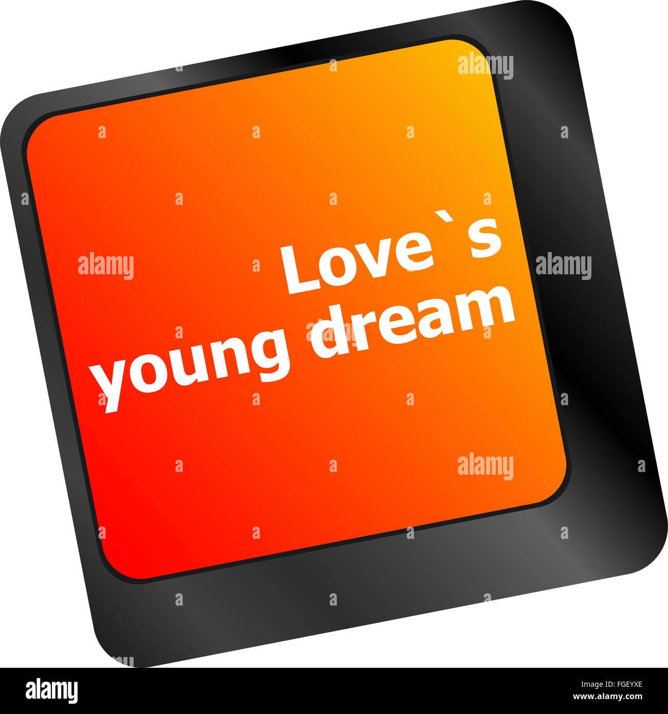 love s young dream on key or keyboard showing internet
