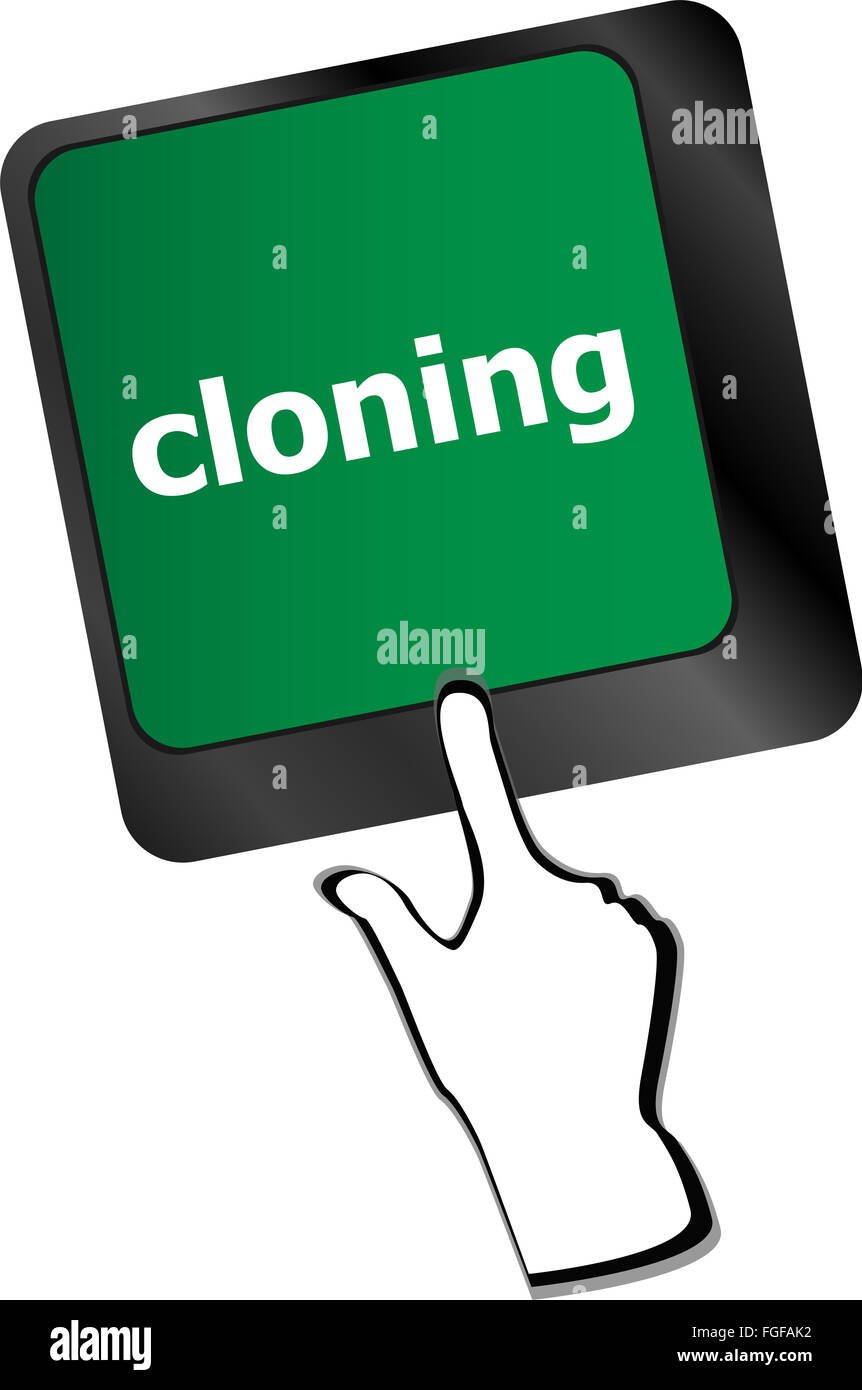 cloning keyboard button on computer pc vector Stock Photo