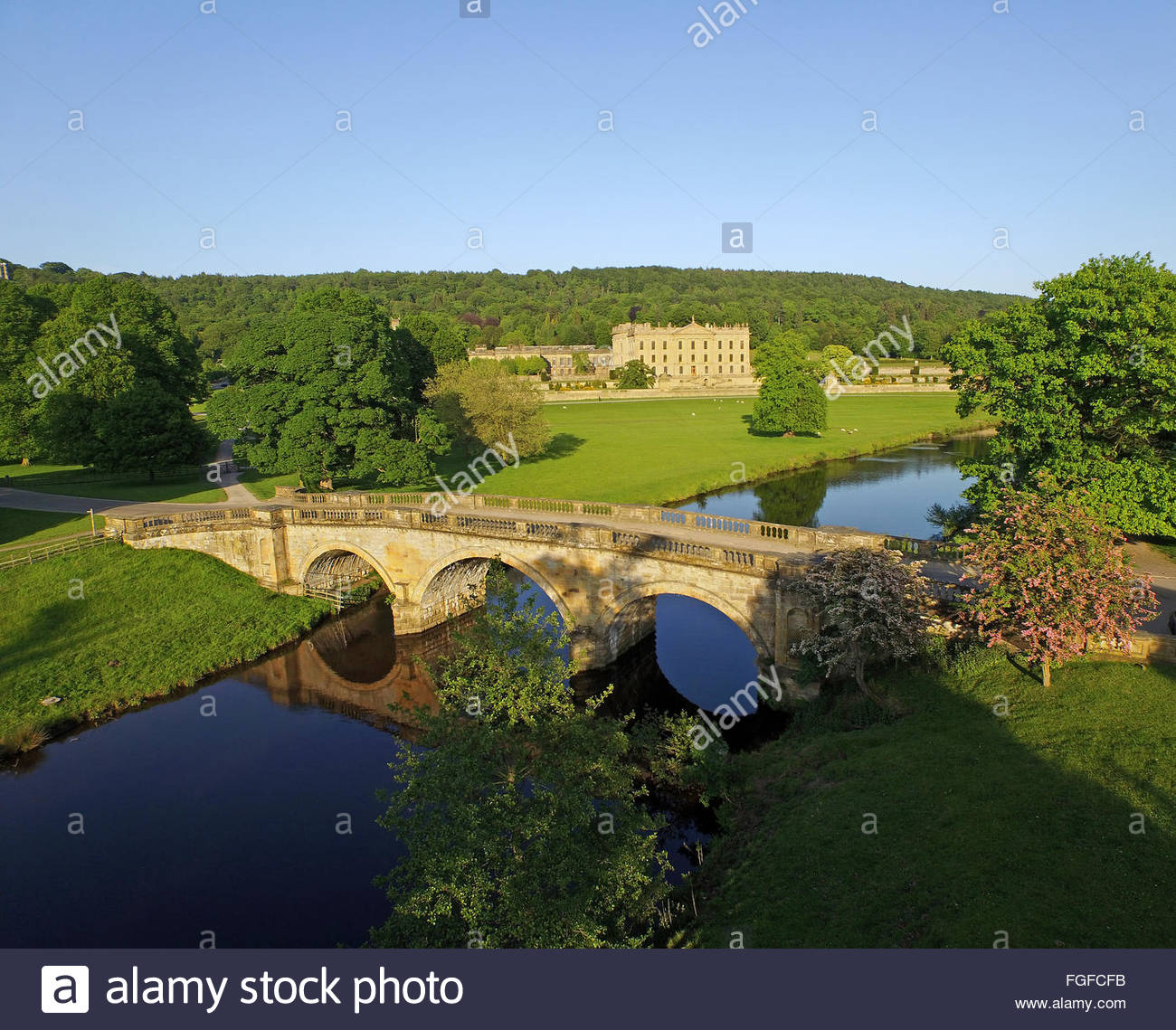Chatsworth House Peak District Derbyshire - Stock Image