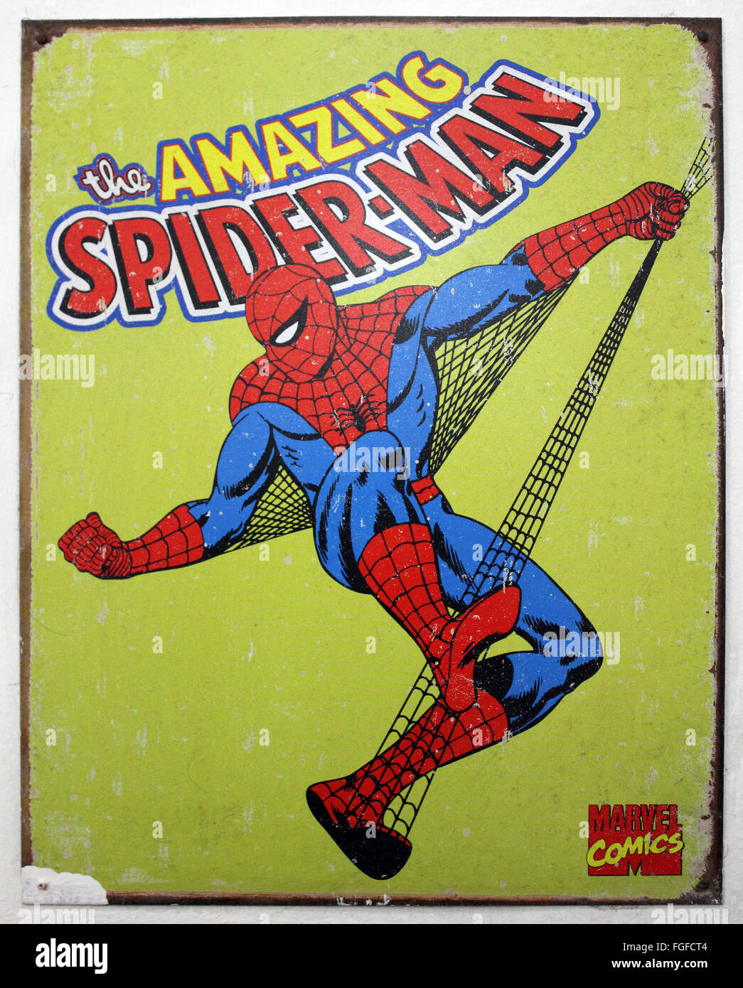 Spider Man Original Wall Plaque - Stock Image