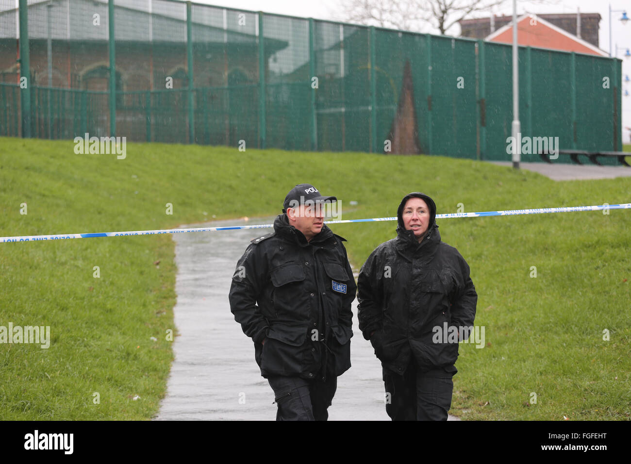 Rochdale, UK. 19th Feb, 2016. Tactical Aid Unit Officers in Rochdale, UK 19th February 2016 Credit:  Barbara Cook/Alamy - Stock Image