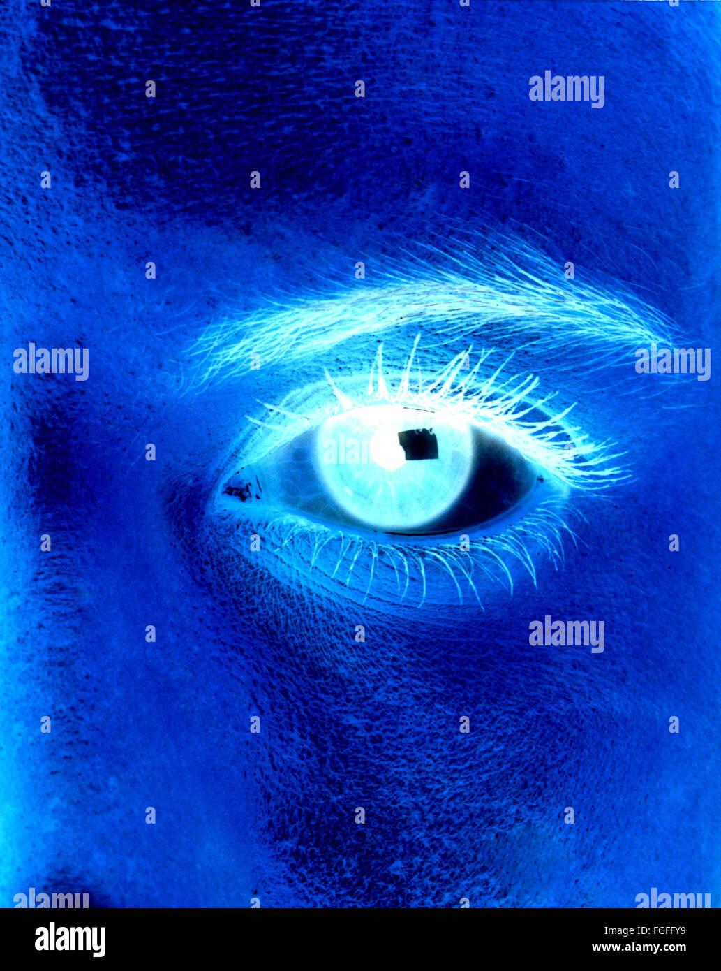 computer generated eye closeup abstract - Stock Image
