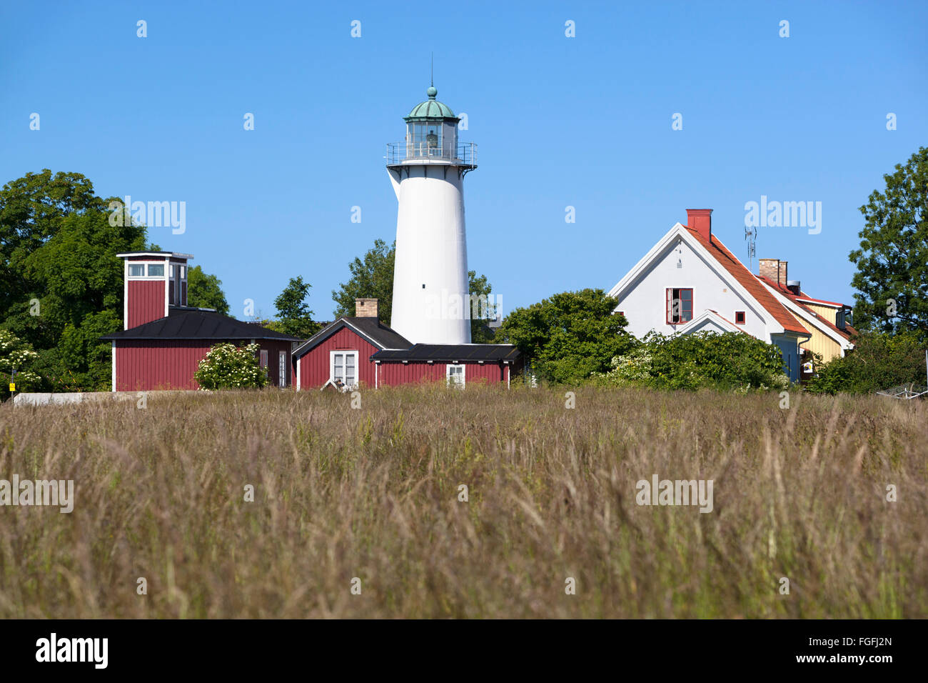Smygehuk lighthouse hostel, Smygehuk, Skane, South Sweden, Sweden, Scandinavia, Europe - Stock Image