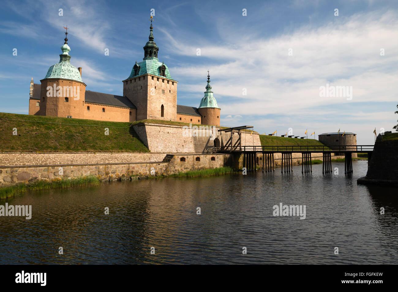 Kalmar Slott castle, Kalmar, Smaland, Southeast Sweden, Sweden, Scandinavia, Europe - Stock Image