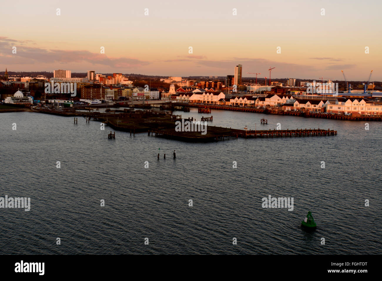 Southampton harbour - Stock Image