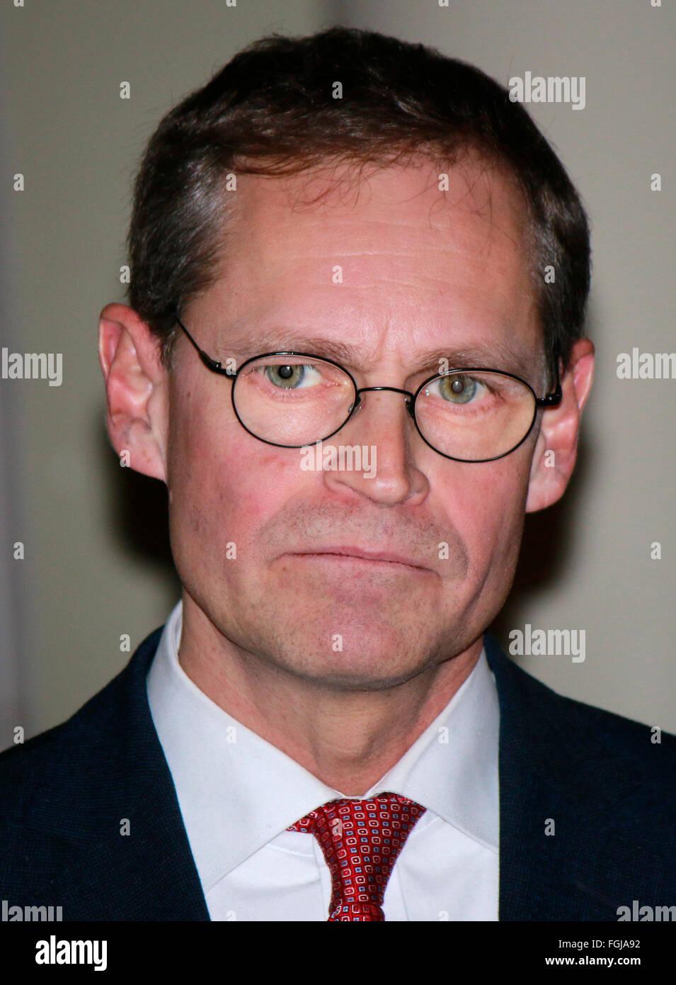 Michael Mueller - Empfang der Berlinale Jury beim Regierenden Buergermeister, Rotes Rathaus, 17. Februar 2016, Berlin. - Stock Image