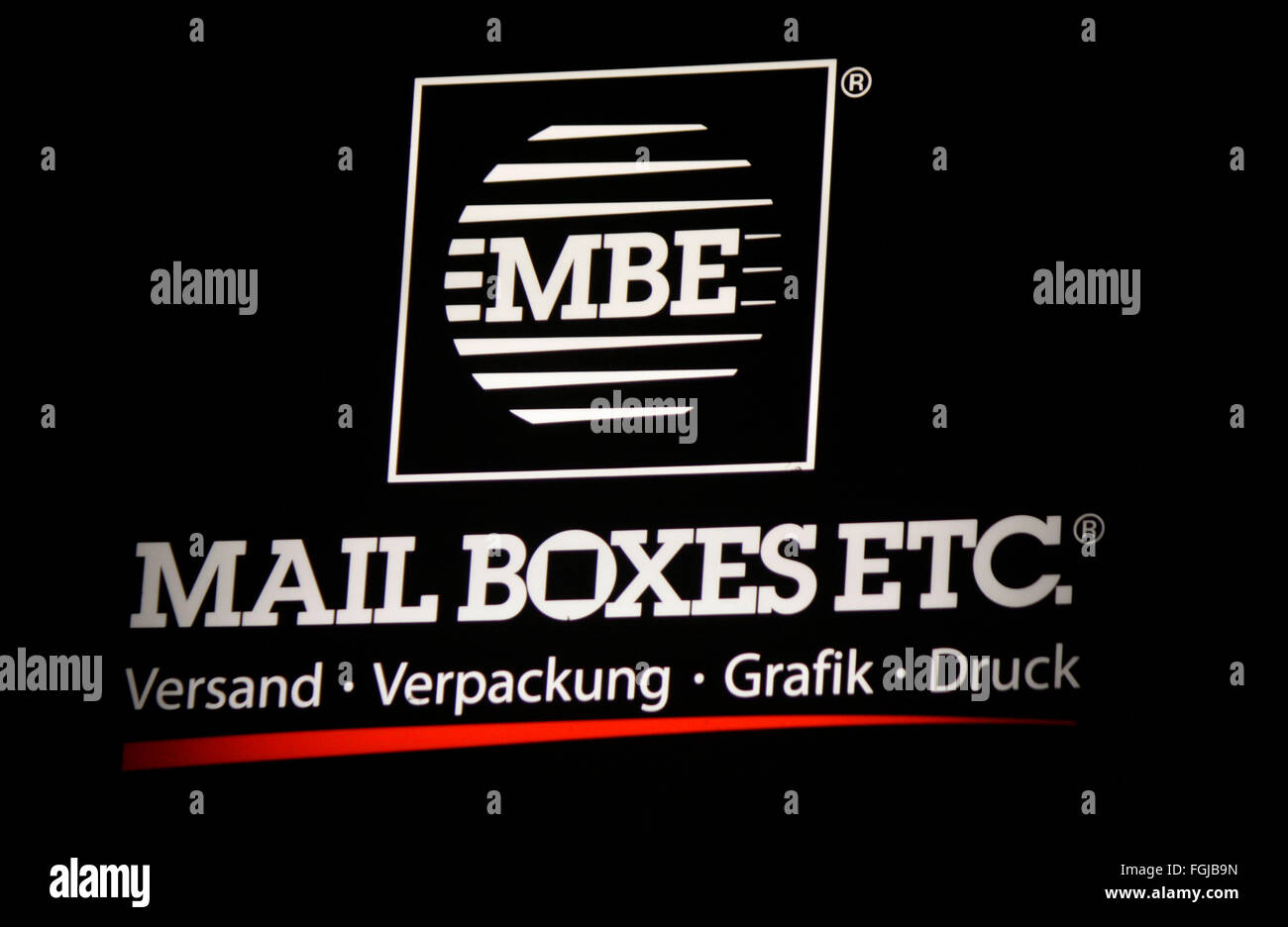 Markenname Mbe Mail Boxes Etc Berlin Stock Photo Alamy