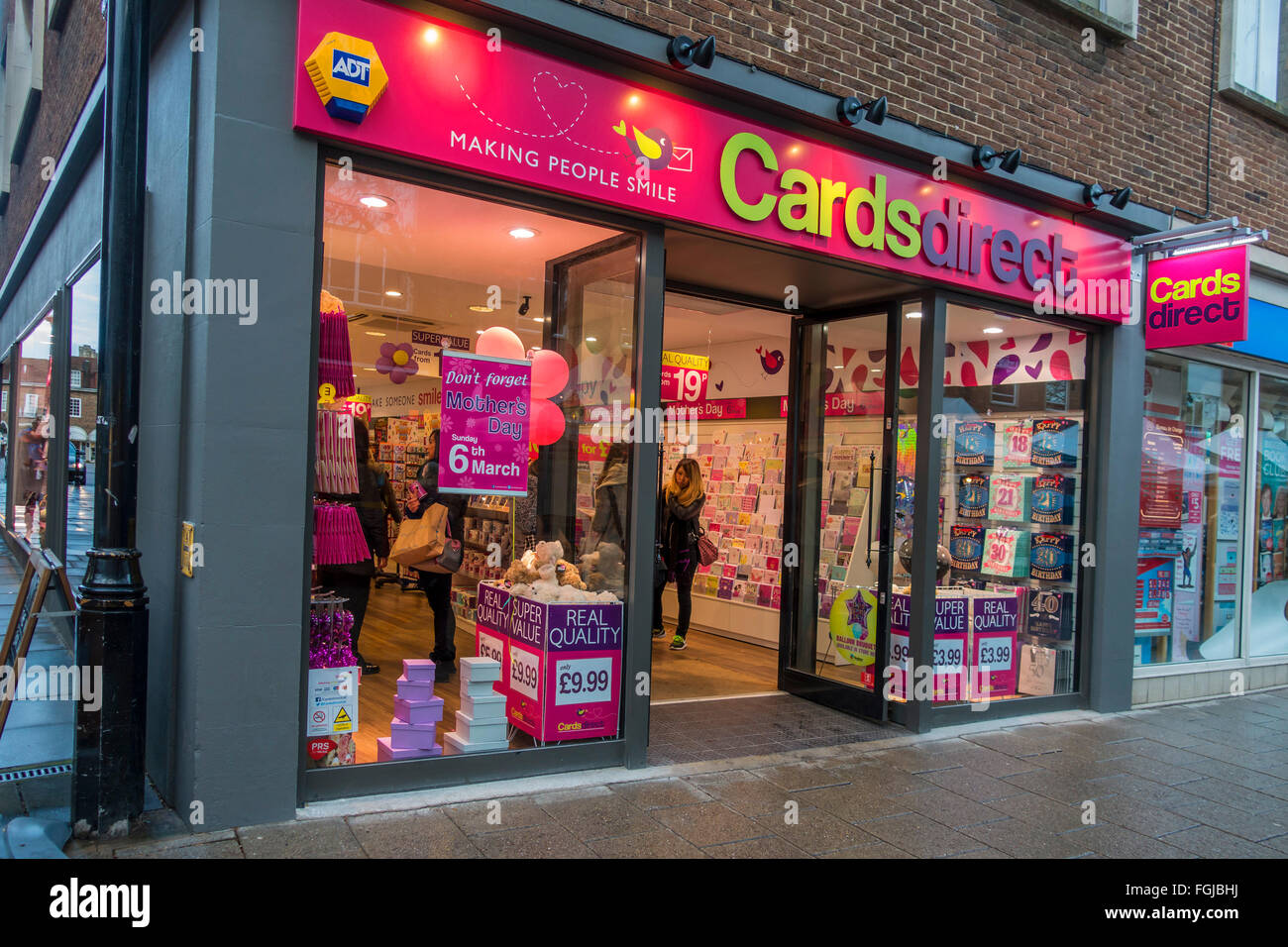 Cards direct card shop greeting cards high street store stock photo cards direct card shop greeting cards high street store m4hsunfo