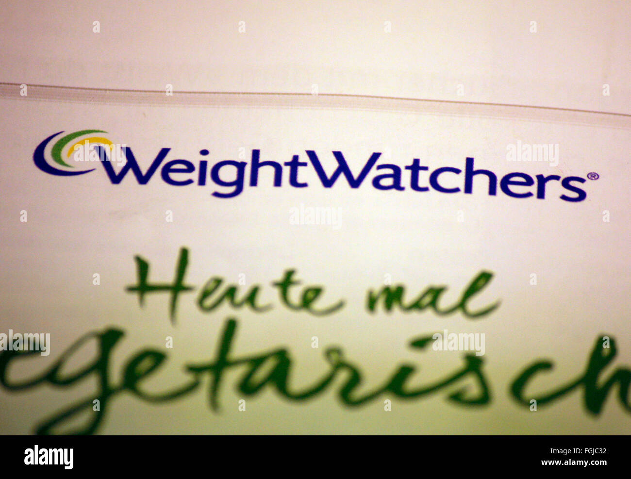 Markenname: 'Weight Watchers', Berlin. - Stock Image