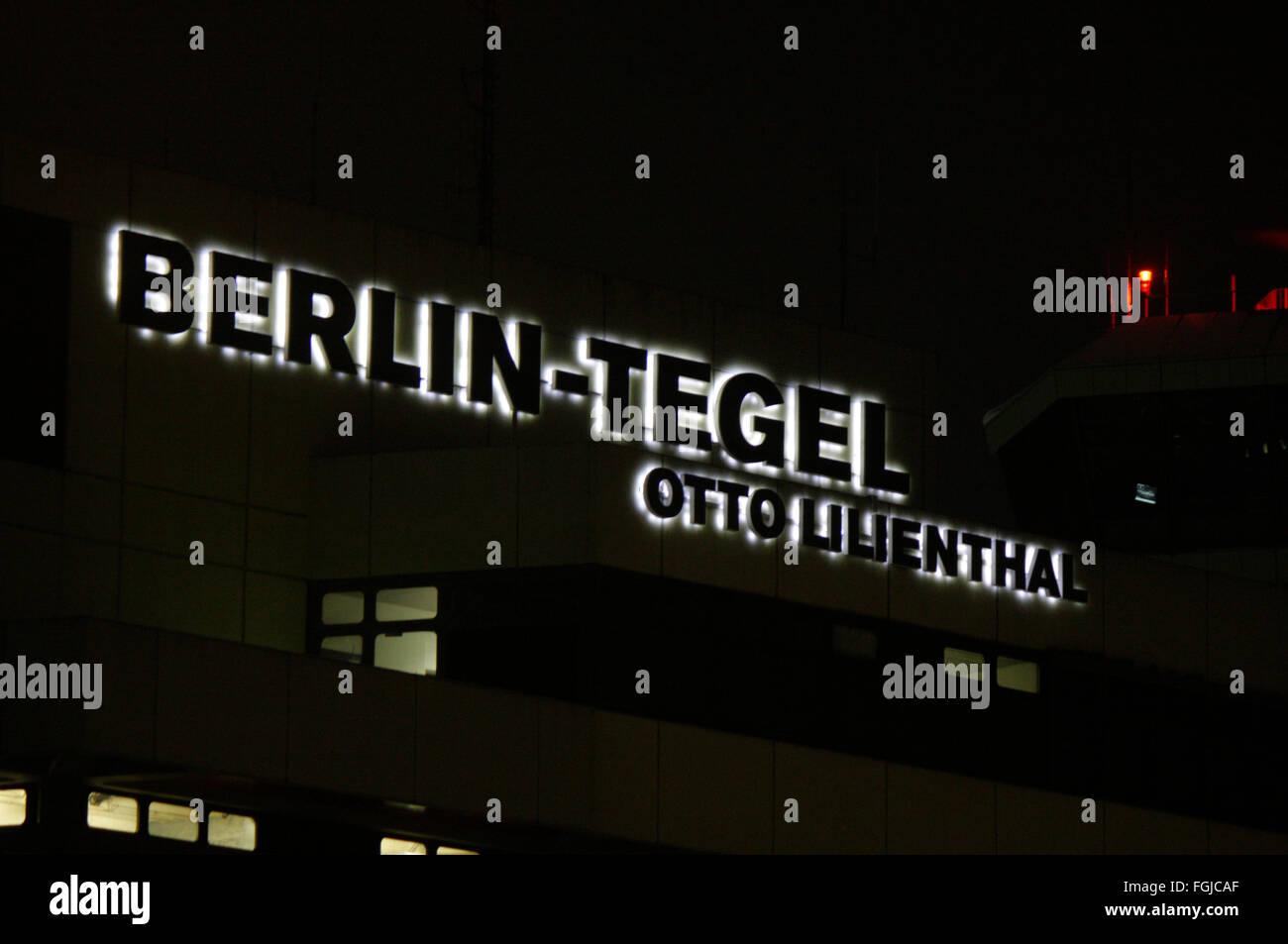 Flughafel Tegel, 'Otto Lilienthal', Berlin. - Stock Image