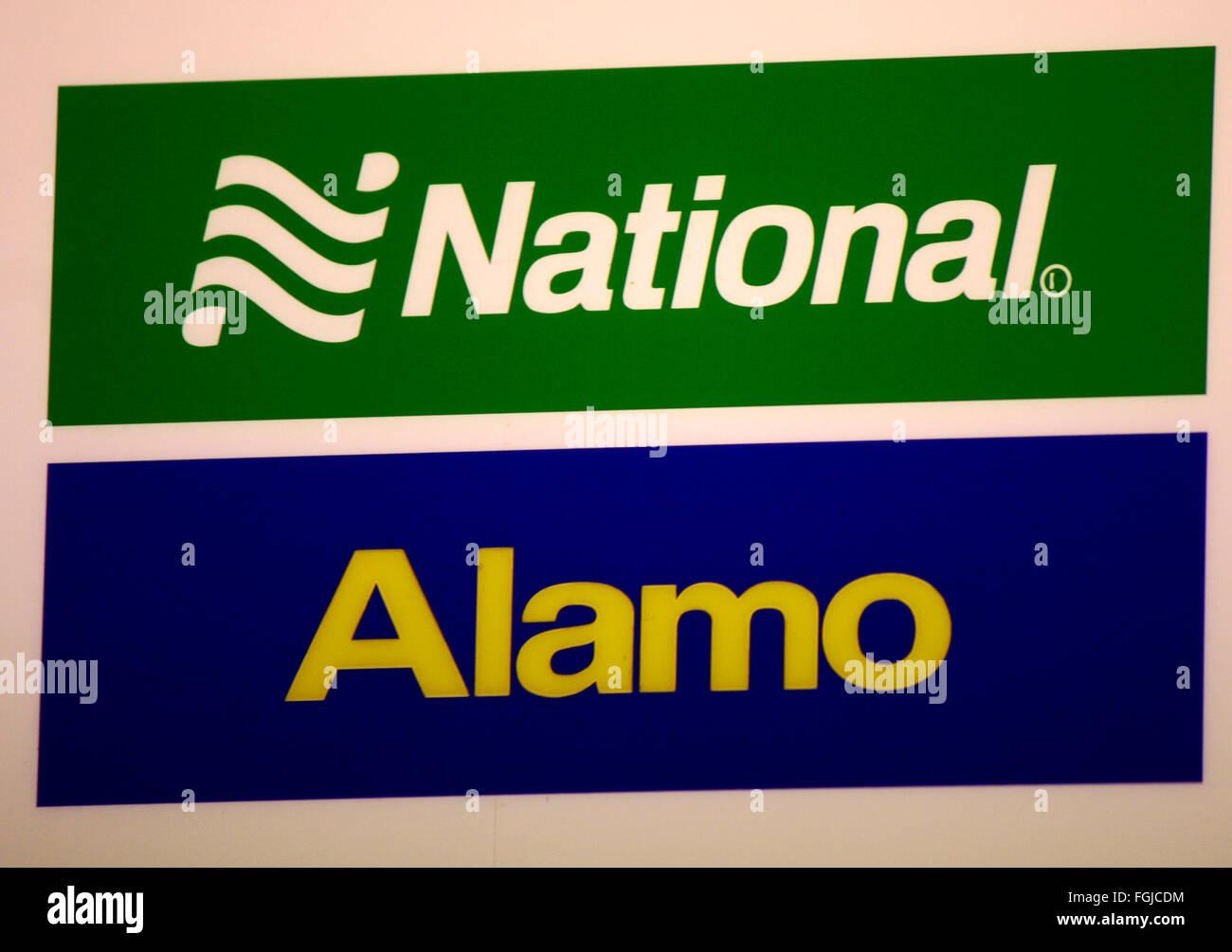 Markenname: 'National' und 'Alamo', Berlin. - Stock Image