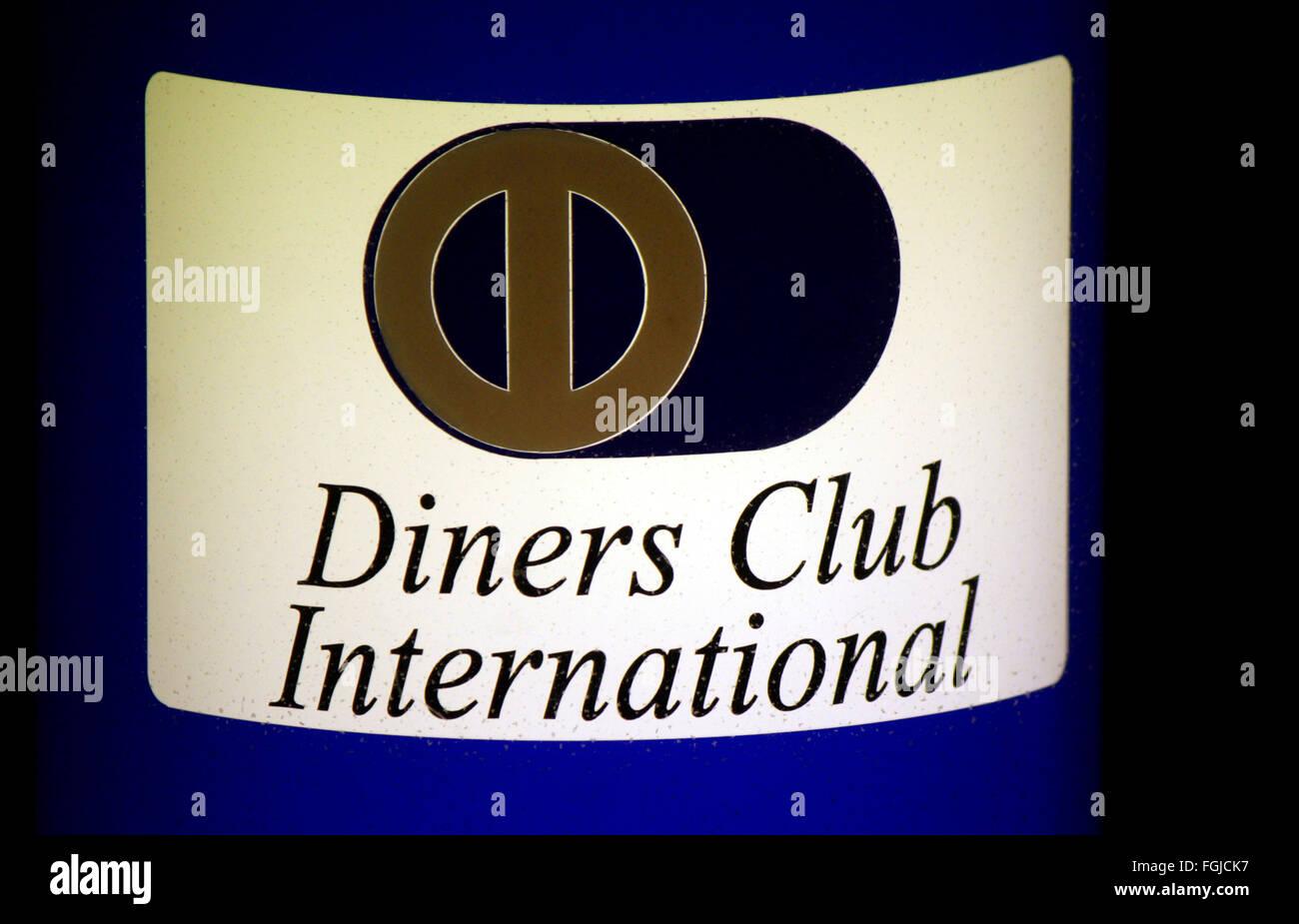 Markenname: 'Diners Club International', Berlin. - Stock Image