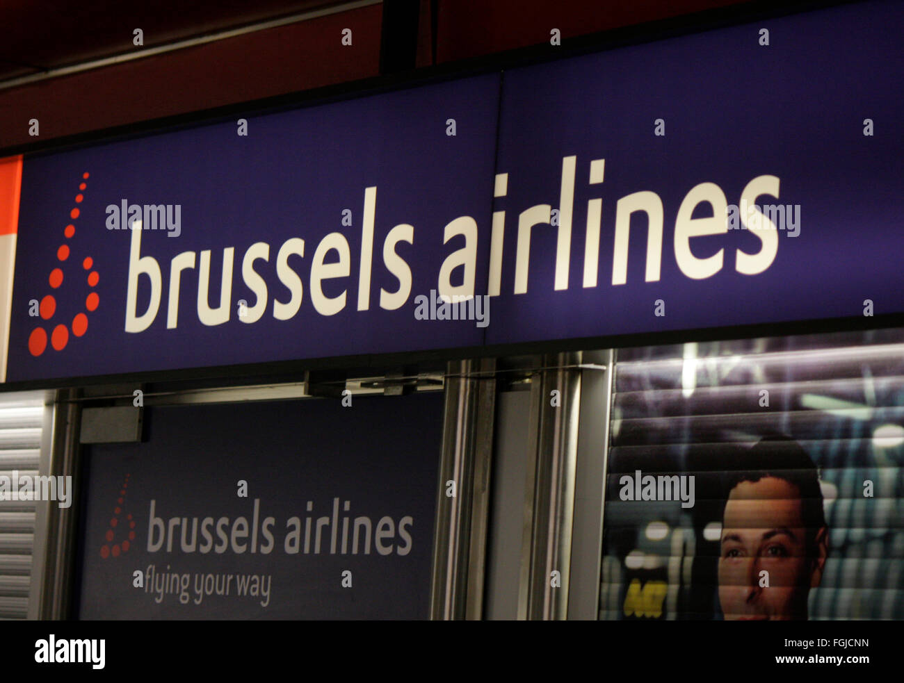 Markenname: 'Brussels Airlines', Berlin. - Stock Image