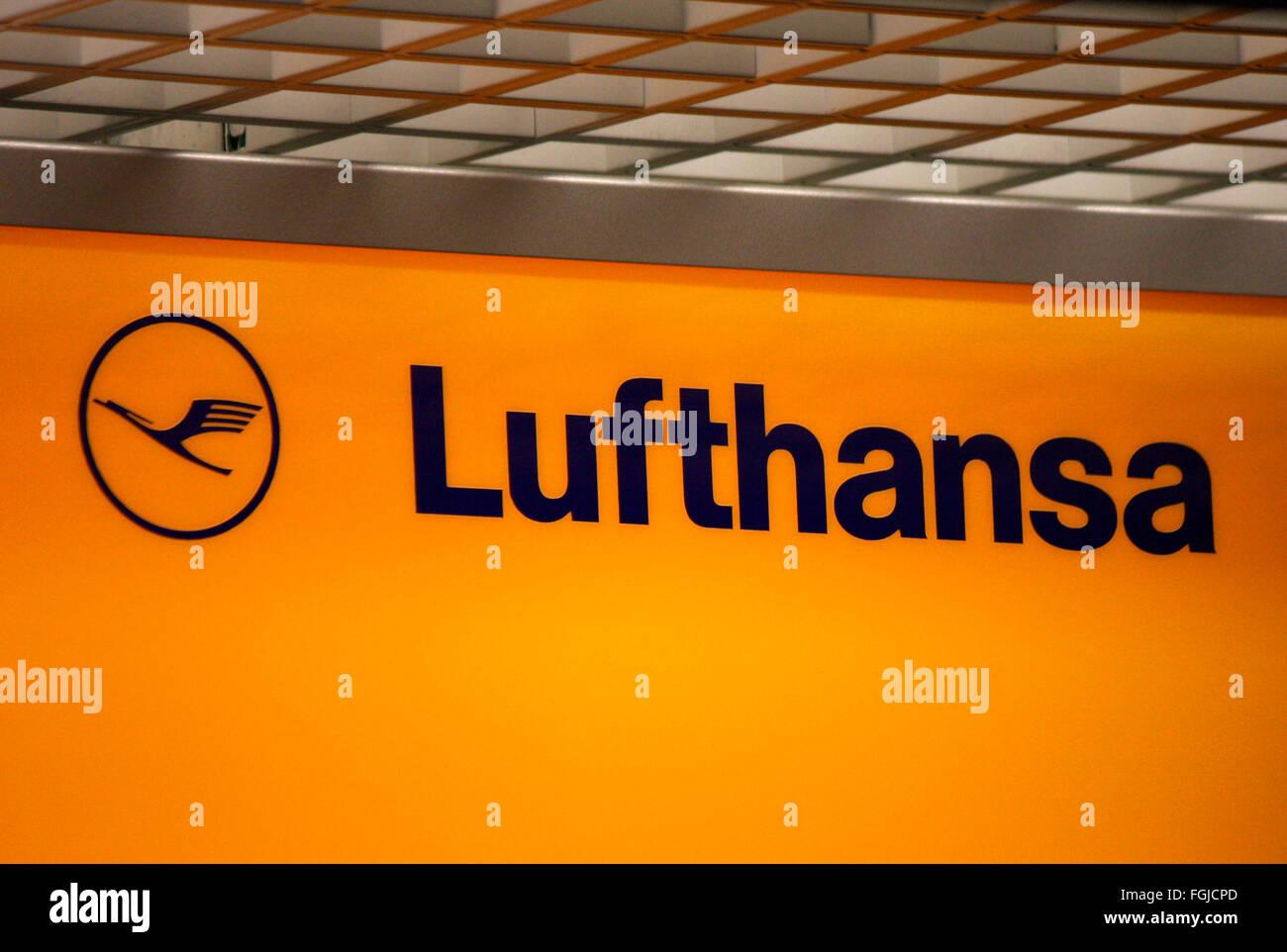Markenname: 'Lufthansa', Berlin. - Stock Image