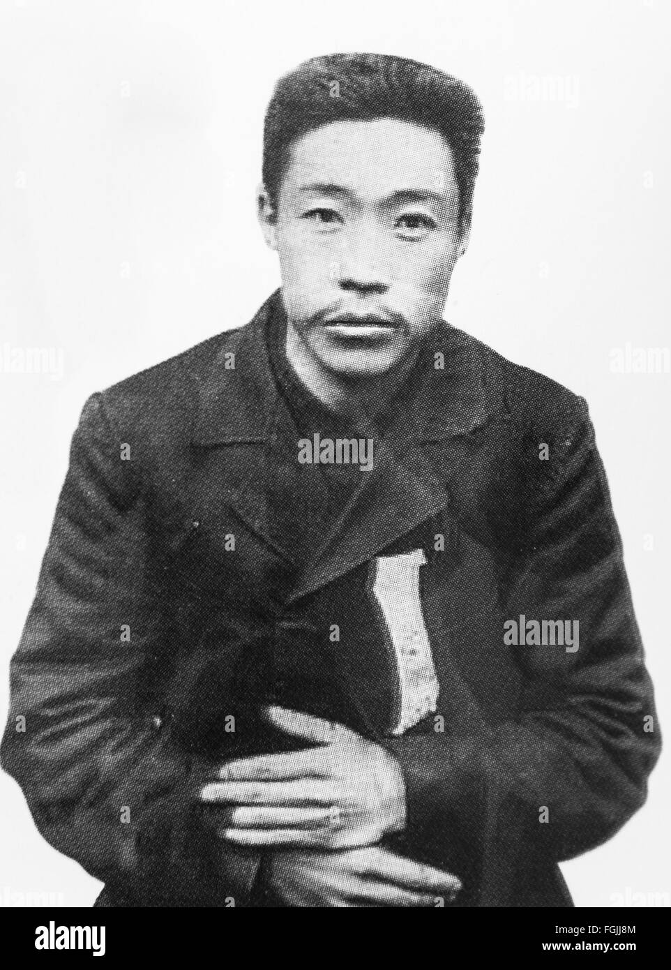 An Jung-geun (September 2, 1879 – March 26, 1910 ) Korean independence activist. On October 26, 1909, he assassinated - Stock Image