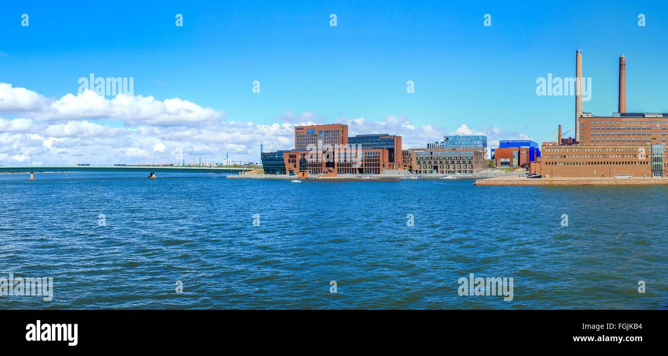 Salmisaari yrityskeskus ||| Salmisaari business center - Stock Image