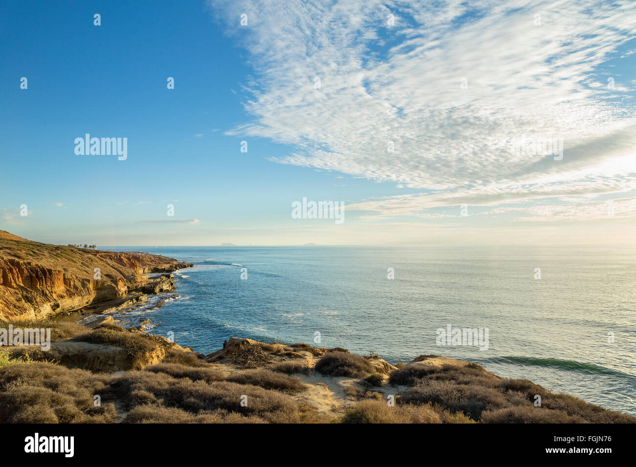 Scenic view at Cabrillo National Monument park, San Diego, California - Stock Image