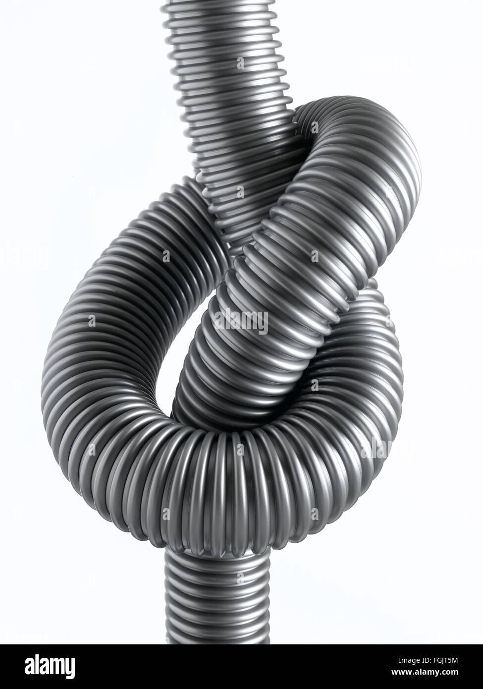 Isolated corrugated Hose - Stock Image