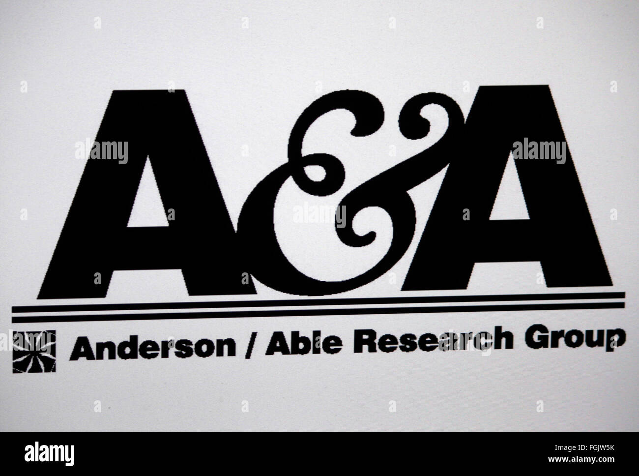 Markenname: 'Anderson and Able Research Group', Berlin. - Stock Image