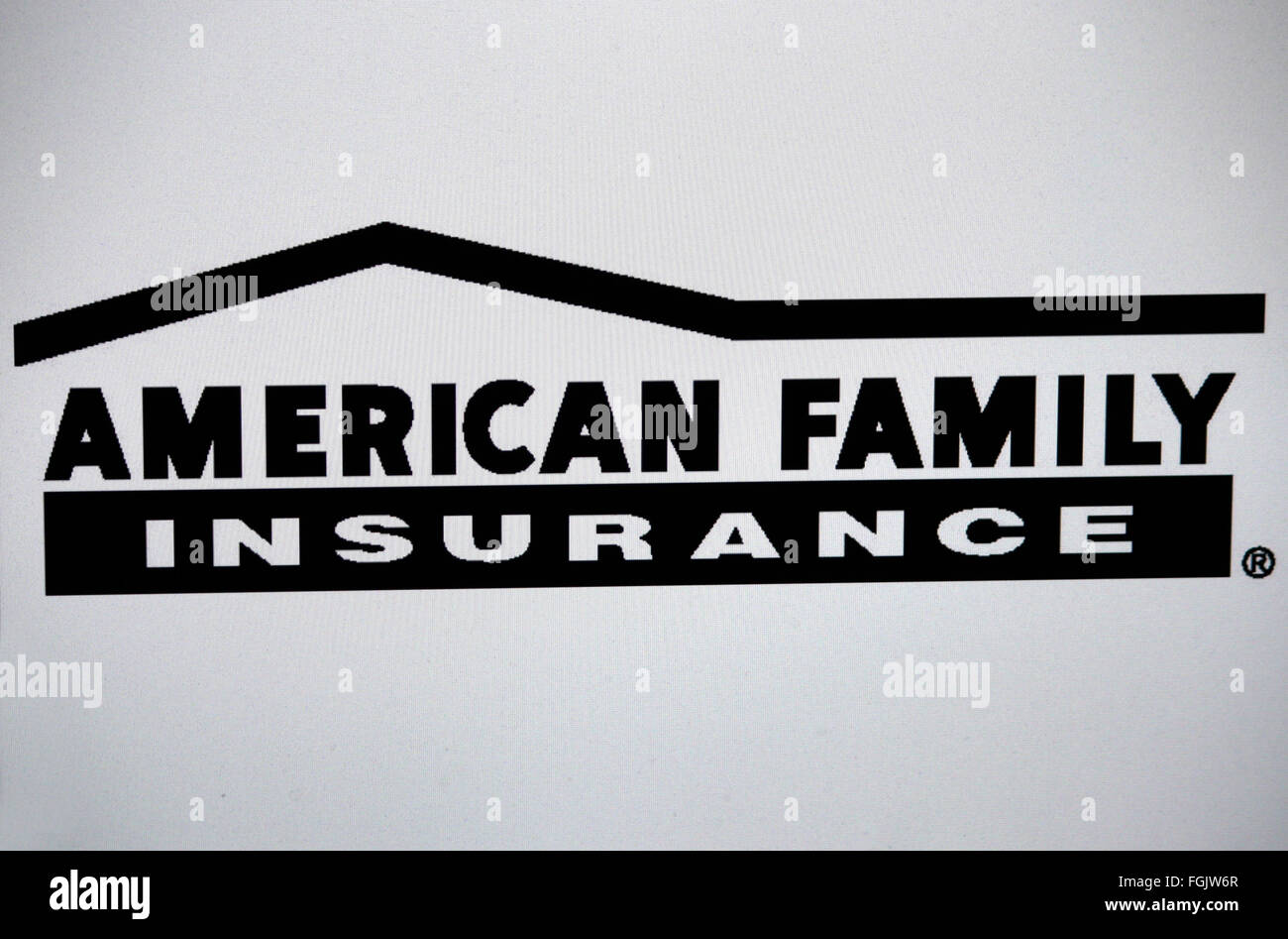 Markenname: 'American Family Insurance', Berlin. - Stock Image
